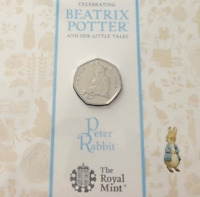 NEW Peter Rabbit 50p FIFTY PENCE Coin BRILLIANT UNC sealed Royal Mint PACK 2018