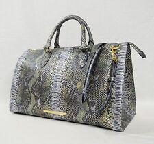 NWT Brahmin Anywhere Weekender/Duffel Bag in Moonstone Seville Embossed Leather