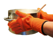 More details for heat resistant gloves long oven mitts pair with fingers cooking pot holder bbq