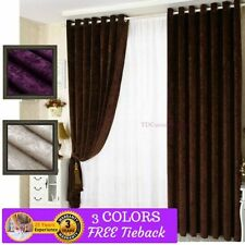 Solid Pattern Window Curtains