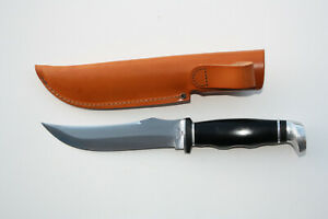 """Case XX 223-6 6"""" Fixed Blade Hunting Knife, Carbon Steel, Black, 1965-1978"""