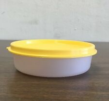 "New Tupperware Individual- Little Wonders Bowl- Sheer w/ ""Chickadee"" Yellow Seal"