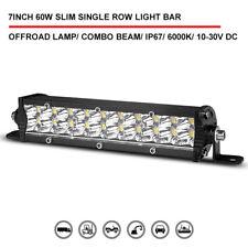 "7"" inch  Super Slim Dual Row LED Work Light Bar Spot Flood Combo Driving Offroad"
