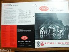 1964 COCO Wood Structural Beams & Arches TENNESSEE & BATON ROUGE Church Catalog