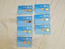 ( Lot of 7 ) At&T 3G Sim Card. Sku 71234 3G
