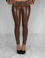 H81 Sexy Leggings Treggings Lack Leder Hüftleggings Hüftjeans Fashion Hose
