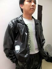 Shiny Glossy nylon Jacket Windbreaker Coat Rainjacket wetlook Tops S-XXXXL new