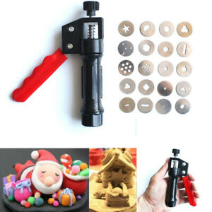 STAINLESS STEEL CLAY EXTRUDER CAKE FONDANT DECORATING SCULPTING DIY TOOLS