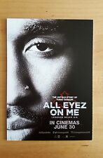 ALL EYEZ ON ME (2017) - FILM MOVIE PROMO POSTCARD SET - TUPAC SHAKUR