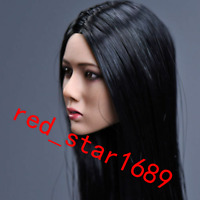 YMTOYS 1/6 Asia Girl Female Head Sculpt Model Black Long Hair F12''  Figure Body