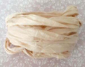 3 Meters Sari Silk Ribbon - Ivory