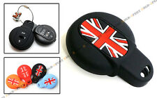 FOR 2015-2017 MINI COOPER KEY FOB BLK UNION JACK SILICONE PROTECTIVE CASE COVER