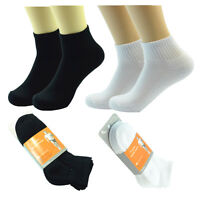 3-12 Packs Ankle Cotton Socks Men Women Training Size 9-11 10-13 Low Cut Stretch