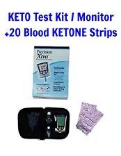 Precision Xtra KETO TESTING KIT Meter Blood Glucose Monitoring +20 KETONE STRIPS