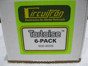 6 pack Circuitron Tortoise Slow Motion Switch Machines New in box 800-6006