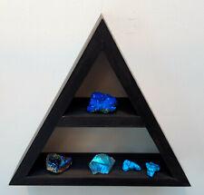 Wood Triangular Meditation Floating Pyramid Crystal Storage Shelf Shelving
