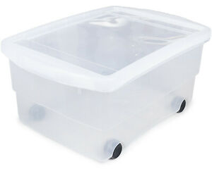 Rollbox mit Deckel 80L Spielzeugkiste Box Rollen Aufbewahrungsbox Kunststoffbox