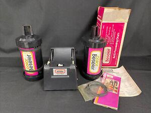 Color by Beseler Motor Base #8921 Film Processing Roller w/2 Drum Rolls *READ*