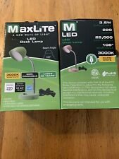 MaxLite LED Desk Lamp with USB Charging Port Adjustable Neck On/Off Switch