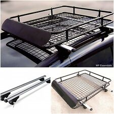 Lockable 120cm Aluminium Roof Rail Bars & Roof Rack Tray for Hyundai Terracan