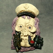 """Halloween Skull #02 Approximately 3"""" Light Up ? Talk ? Pirate Pipe ."""