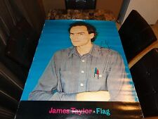 James Taylor Rare Authentic Hand Signed HUGE Promo Poster 1979 Flag + Photo REAL