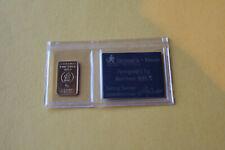 999er Goldbarren 1 Gramm mit Zertifikat