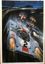 Porsche Gulf 917/ Ferrari 512 Daytona 24hrs 1971 Car Poster! Stunning! Own It!