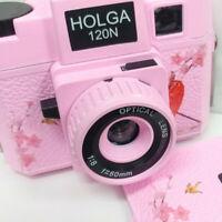 Holga 120N Medium Format Film Camera Sakura Pink Japan Limited Edition Lomo