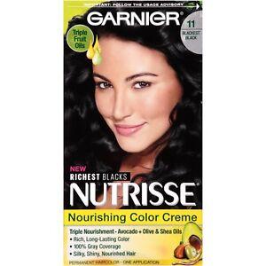 Garnier Nutrisse Nourishing Color Creme 11 Blackest Black