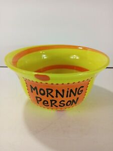 Lorrie Veasey Our Name Is Mud I RISE I DINE MORNING PERSON CERAMIC BOWL