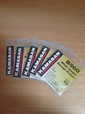 Five packets of Kamasan B560 Barbed Spade End Hooks Size 20