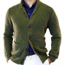 NWT Tommy Hilfiger Button Down Knit Cotton Vintage Green Cardigan Size M Shawl