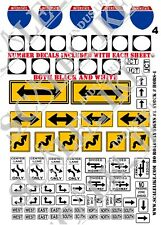 SCALELIKE INDUSTRIES HO-ROADWAY SIGNS 4 (HORS-4) PRINTED ON PLASTIC FACTORY NEW