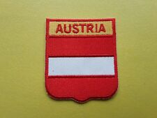 WORLDWIDE FREEPOST COUNTRY SHIELD FLAG SEW & IRON ON PATCH - AUSTRIA