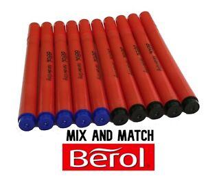 Berol Handwriting Pens Available in Blue or Black Medium Nib School Office