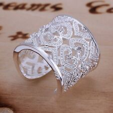 Gorgeous Sparkling Round Cut Cubic Zirconia Stylish Engagement 925 Silver Band