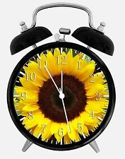"Sun Flowers Alarm Desk Clock 3.75"" Room Office Decor X26 Nice For Gift"