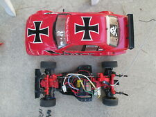 Tamiya Mercedes Benz Red Baron DTM TA02 1/10 4WD D2 Rare Vintage w/Controller