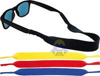 LACCIO per OCCHIALI da Sole/Vista SOFT SHELL Sportivo ELASTICO/NASTRO Colorato