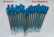 40 x Blue Medium Ball Pens Crystal Biros In Blue Excellent Quality Cheap Price