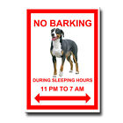 GREATER SWISS MOUNTAIN DOG No Barking FRIDGE MAGNET