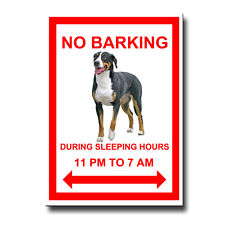 GREATER SWISS MOUNTAIN DOG No Barking FRIDGE MAGNET