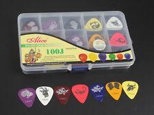 100pcs Constellation Pattern Celluloid Guitar Picks Pick 0.46/0.71/0.81mm + Case