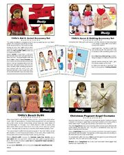 """18"""" American Girl Doll Clothes Pattern_MOLLY 1940s DELUXE COLLECTION + BONUS_CD"""