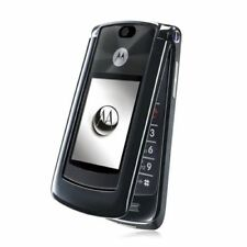 "Motorola RAZR2 V9  Black (Unlocked) Cellular Flip Phone GSM Refurbished 2.2"" 3G"