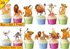 40 le roi lion fête d'anniversaire cup cake comestible gaufre riz toppers stand up