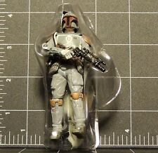 STAR WARS EVOLUTIONS BOBA FETT no emblem black paint detail on helmet variation