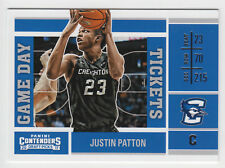 JUSTIN PATTON 2017-18 Panini Contenders Draft Picks Game Day Tickets Bluejays