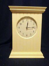Wood Mantle Clock Cream